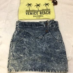 Dresses & Skirts - Vintage Acid Wash Skirt